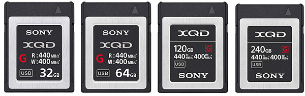 Sony Professional XQD G Series Memory Cards